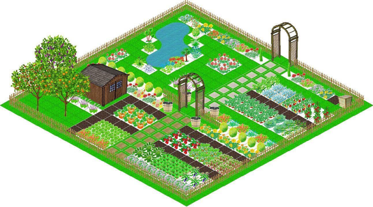 Plan De Jardin En 3d