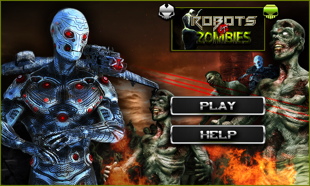game robot vs zombie