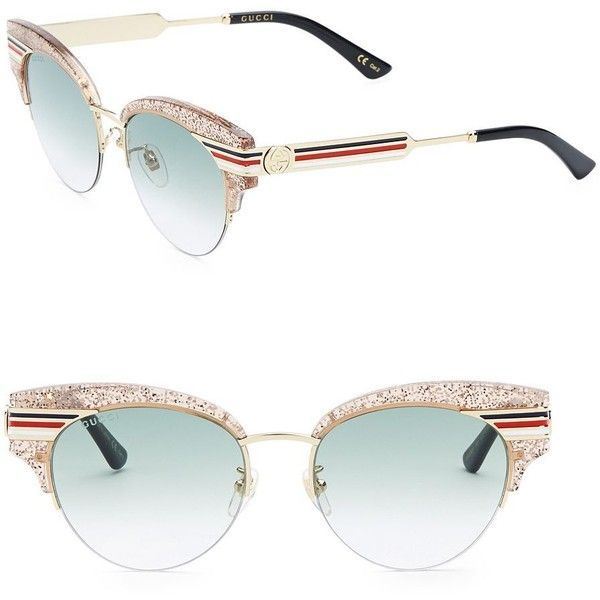 ce033202404 Gucci 53MM Cat Eye Sunglasses ( 510) ❤ liked on Polyvore featuring  accessories