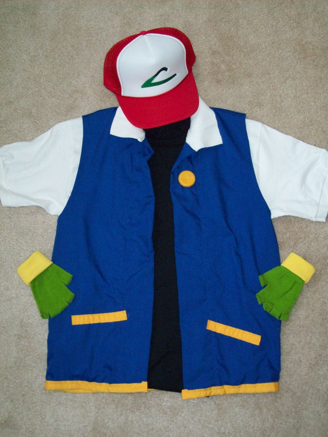 POKEMON Cosplay ASH Ketchum Costume by StellaKlinkerCostume $87.00 & POKEMON Trainer Cosplay- ASH Ketchum Costume - Menu0027s SMALL 4 pc ...