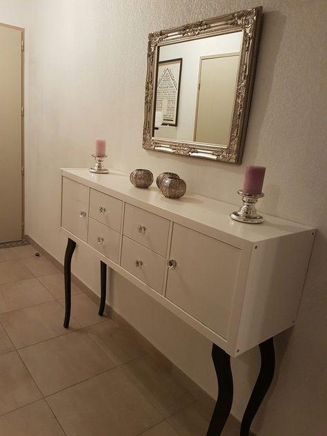 Console chic pour votre entrée Ikea kallax and Consoles - customiser un meuble de salle de bain