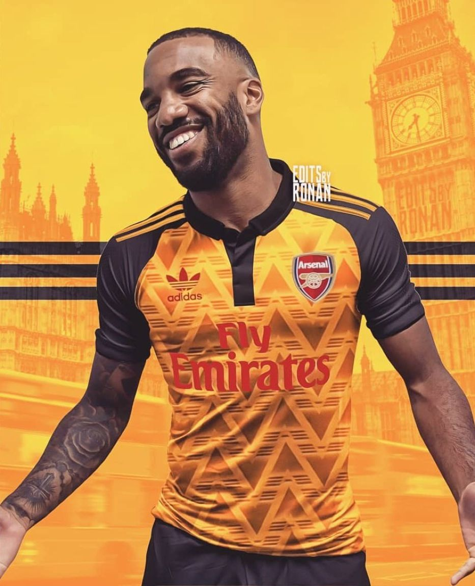 the latest 02e0e e2e22 Alexandre Lacazette Arsenal Adidas Concept Kit | jersey ...