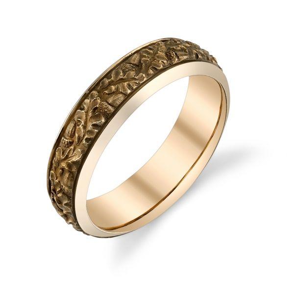 Van Craeynest handengraved Art Deco mens wedding ring design No