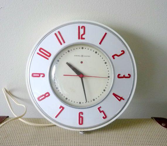 Retro Kitchen Clock Retro Retrokitchen Retro Home Decor Pinterest Kitchen Clocks