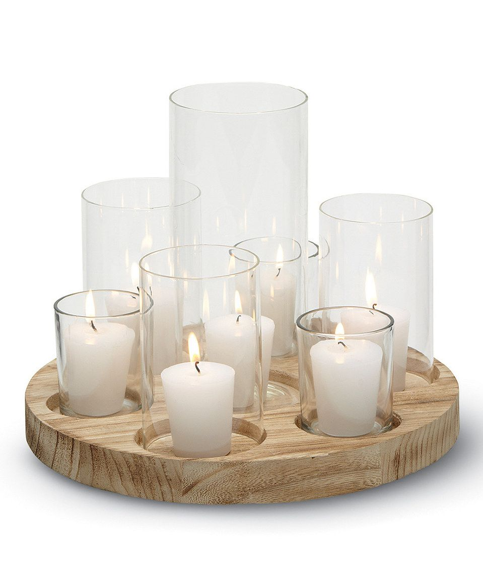 Zulily Home Decor: Another Great Find On #zulily! Wood Votive Tray Set By