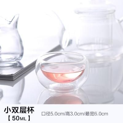 Photo of Good Clear Borosilicate Glass Teapot With 304 Stainless Steel Infuser Strainer Heat Resistant Loose Leaf Tea Pot Tool Kettle Set – 6pcs double 50ml cup