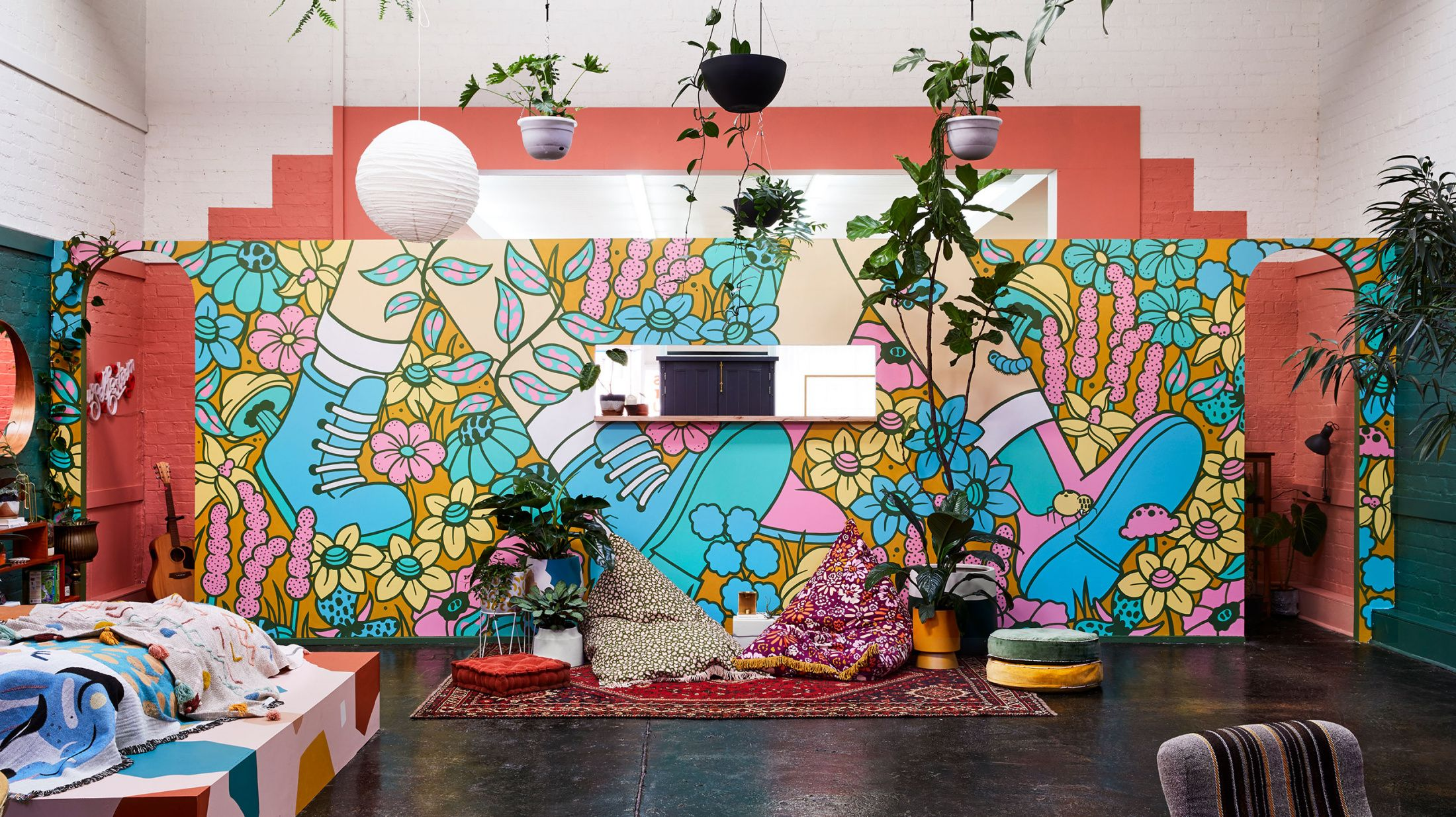 A collingwood warehouse transformed with paint plants in