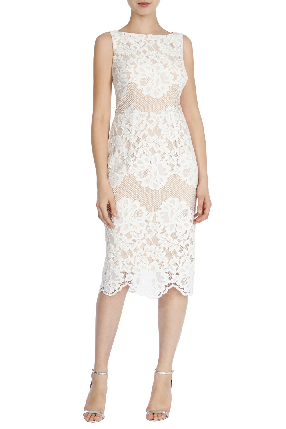 MOISELLE LACE SHIFT DRESS