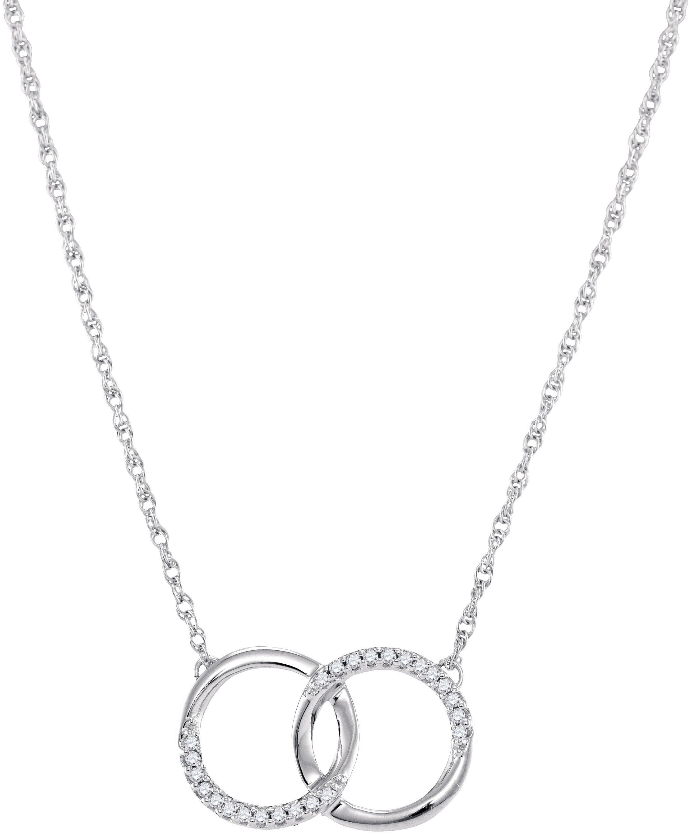 10kt white gold womens round diamond circle pendant necklace 110 10kt white gold womens round diamond circle pendant necklace 110 cttw 97492 aloadofball Choice Image