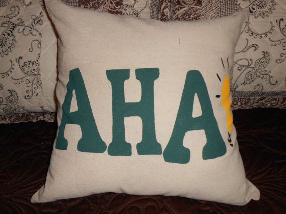 Decorative Pillow Whimsical AHA Moments