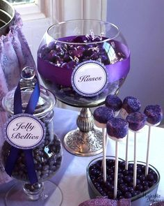 Everything Purple Baby Shower Party Ideas | Photo 2 of 12 | Catch My Party