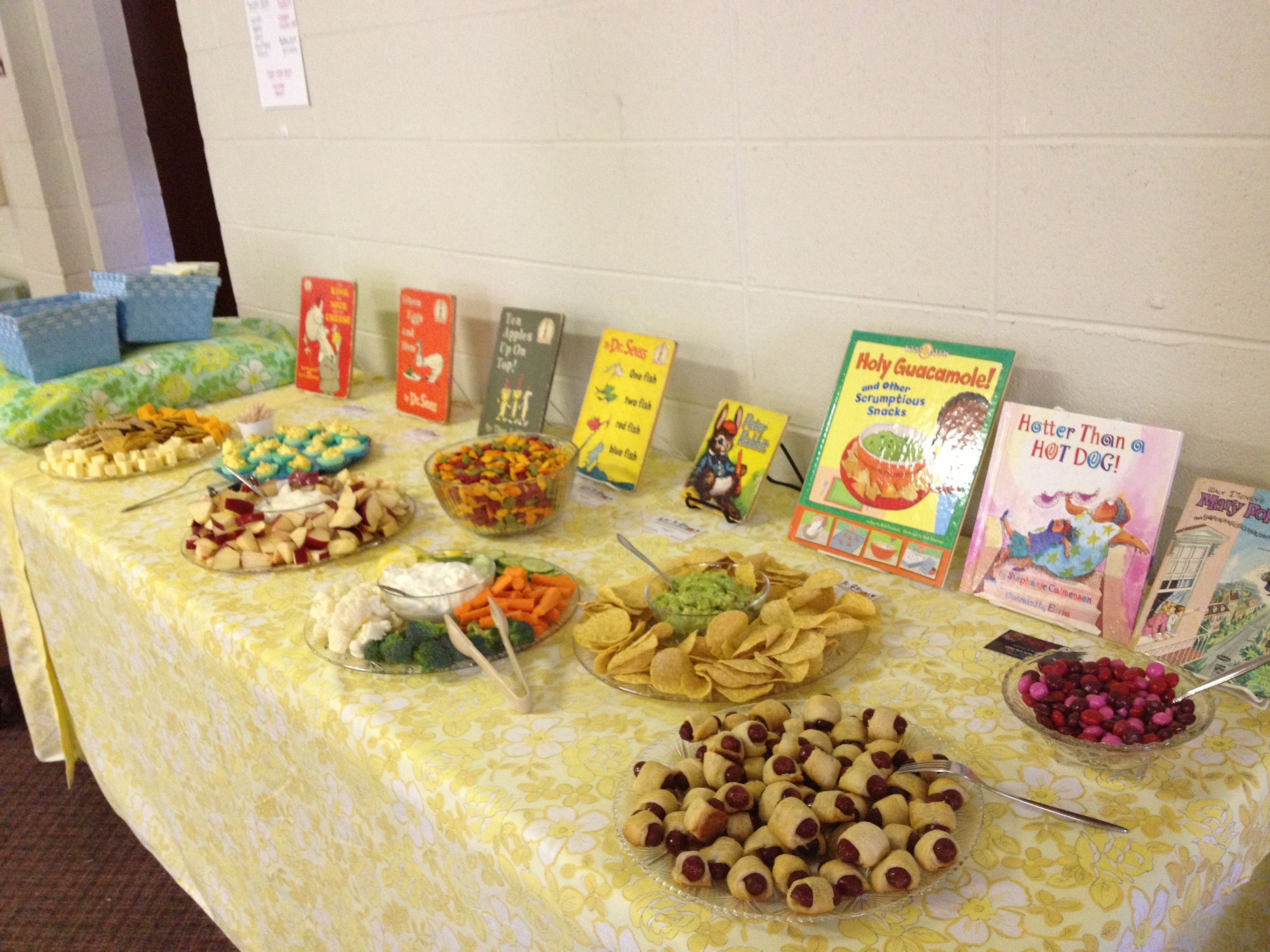 Story Book Themed Baby Shower Food Baby Shower In 2018 Pinterest