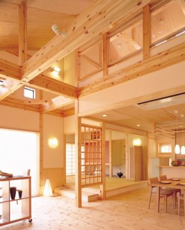 木のぬくもり感じる家 家の外観 内装写真集 施工例 建築実例