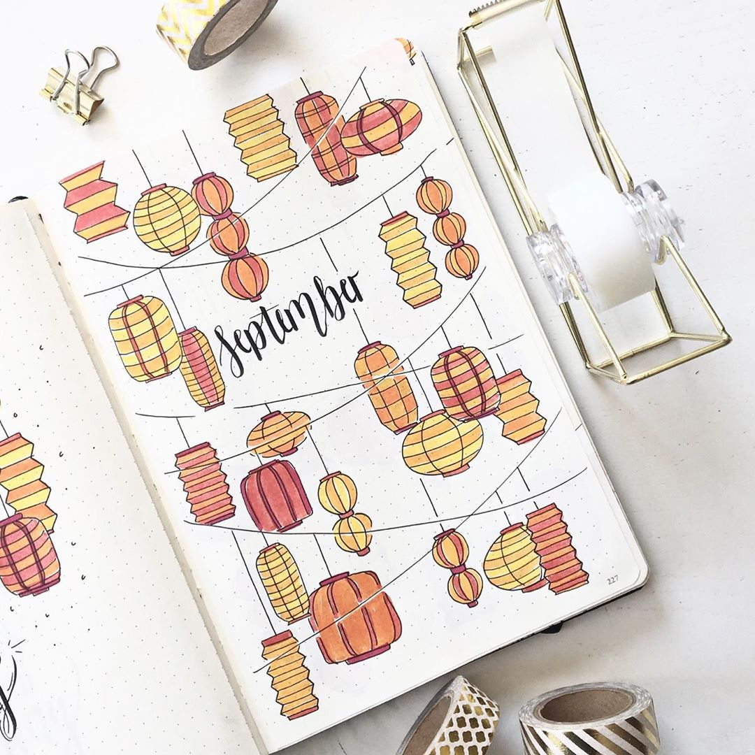 "@sofieshandlettering on Instagram: ""aaand here it is!!:) my september cover page!"