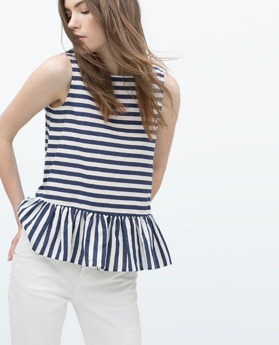 ZARA - NEW THIS WEEK - FRILLED TOP