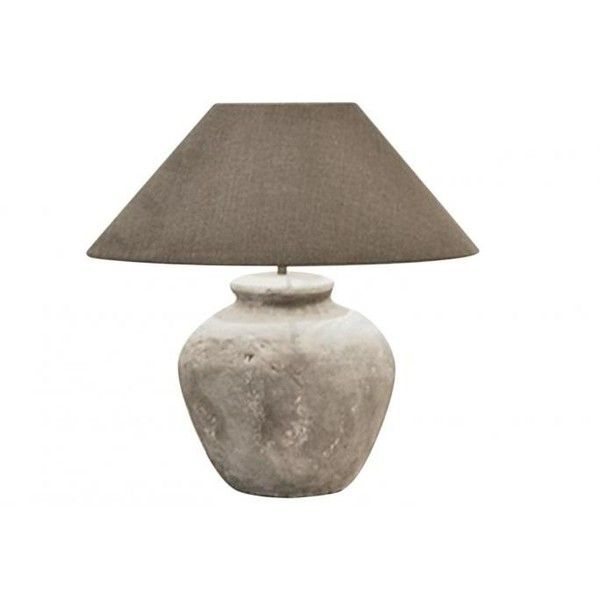 Custom Handmade Belgian Pottery Jar Lamp (1,120 CAD) ❤ liked on Polyvore featuring home, lighting, handmade pottery lamps, handcrafted lamps, linen lamp shade, handmade lights and hand made lamps