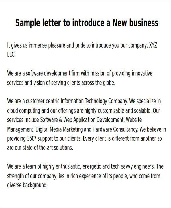 sle new business letters 6 exles in word pdf   - business letters