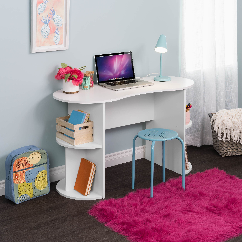 Prepac Kurv Compact Student Desk With Storage White Walmart Com In 2020 Desk Storage Student Desks Space Saving Desk