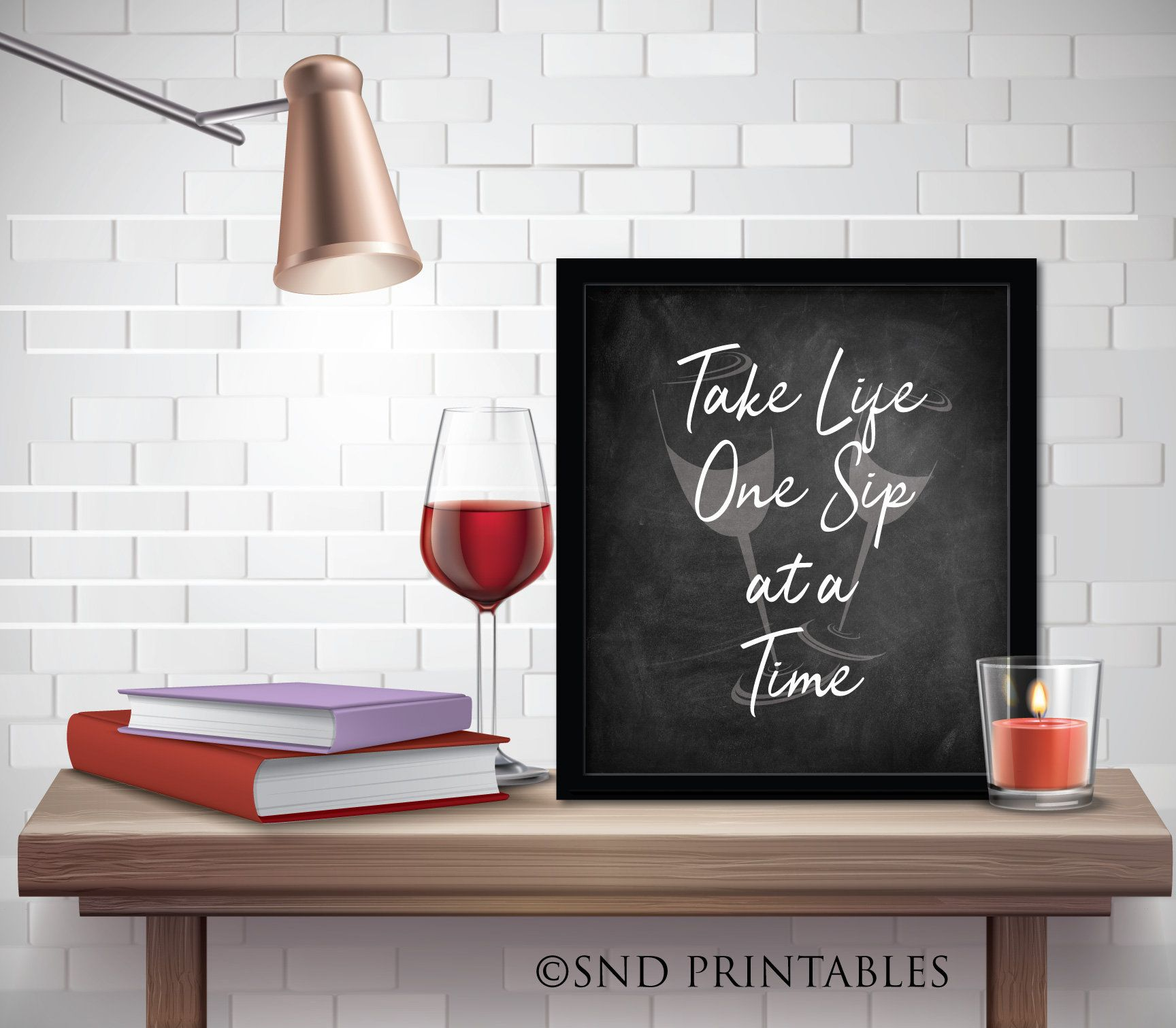 Take Life One Sip At A Time Art Printable In 8x10 And 12x16 Etsy In 2021 Wine Wall Art Bar Art Wine Wall