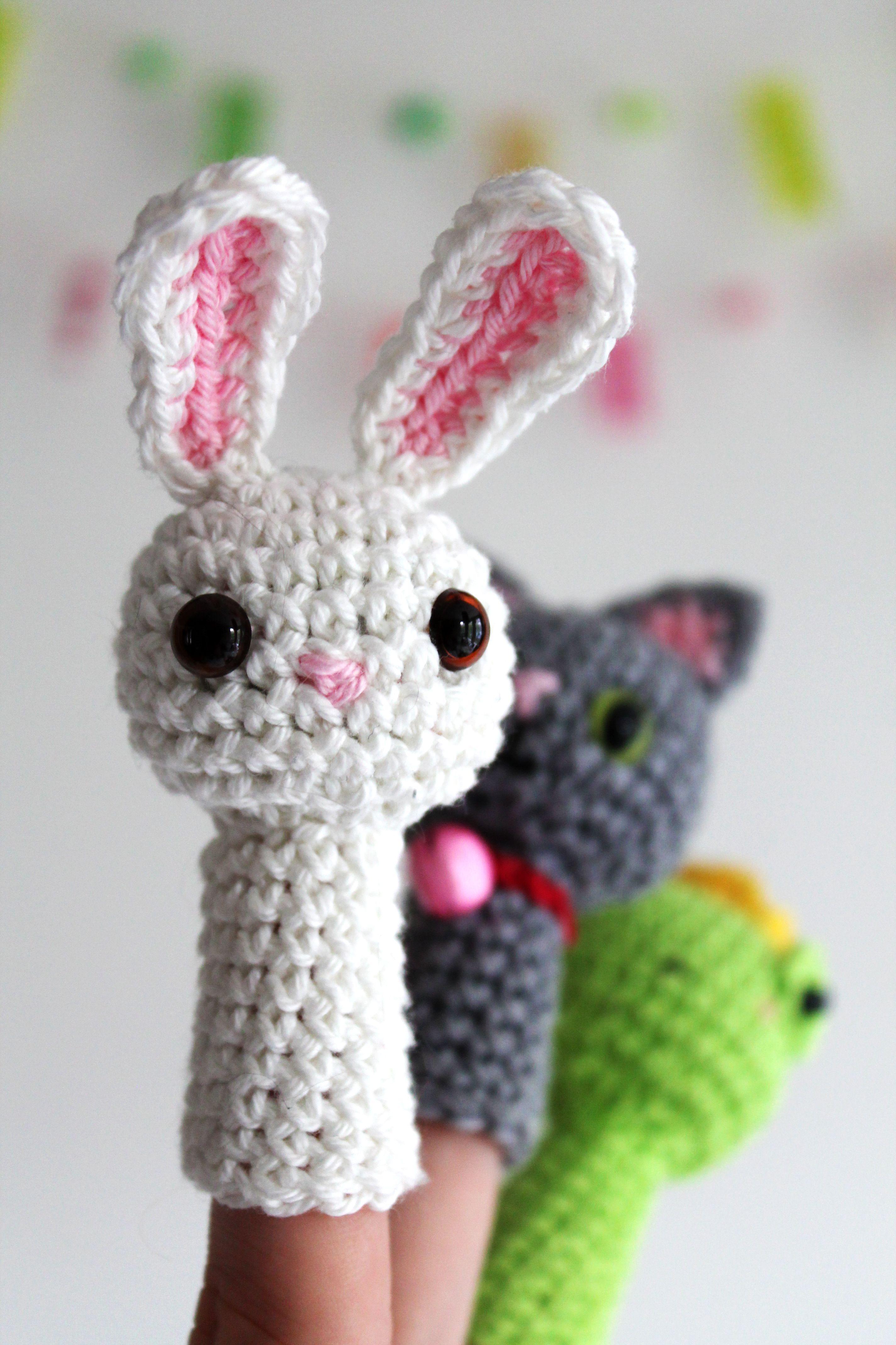 New crochet pattern: Animal Fingerpuppets | Häkeln, Stricken und ...