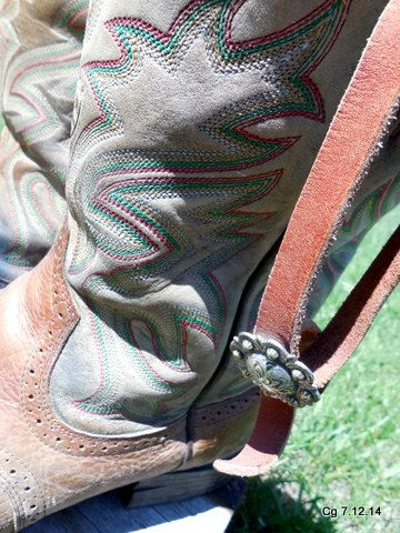 80's Vintage Cowboy Boots Montana Worn Decorative by LotsaVintage, $95.00