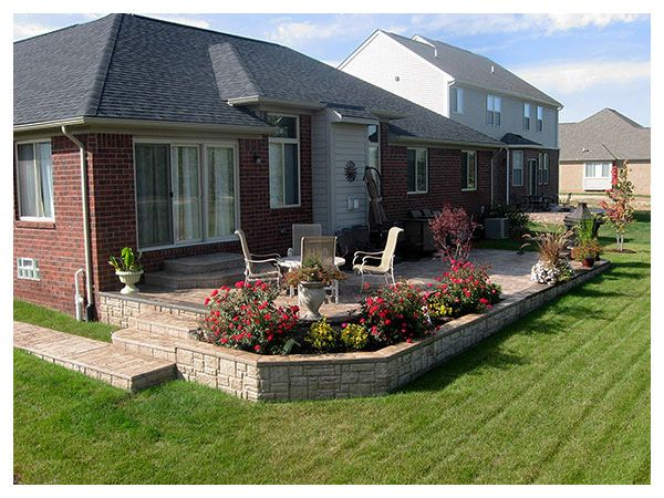 stamped concrete patio | Concrete patio designs, Concrete ... on Raised Concrete Patio Ideas id=20254
