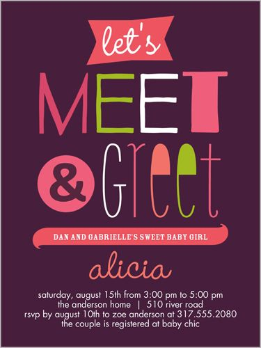 Meet The Baby Invitation Templates - Best Custom ...