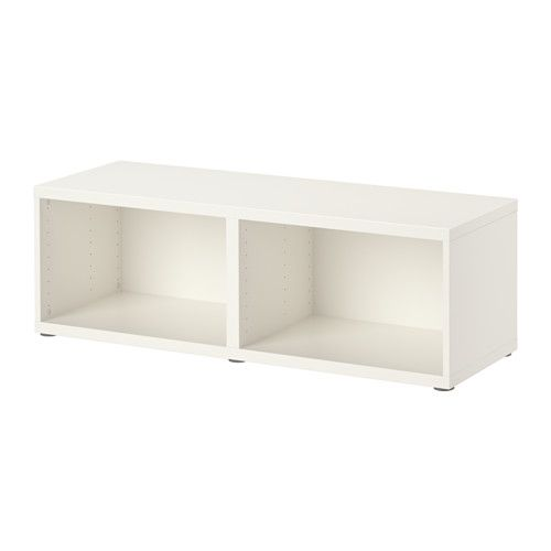 Besta Structure Blanc 120x40x38 Cm Petit Meuble Tv Ikea Petit Meuble