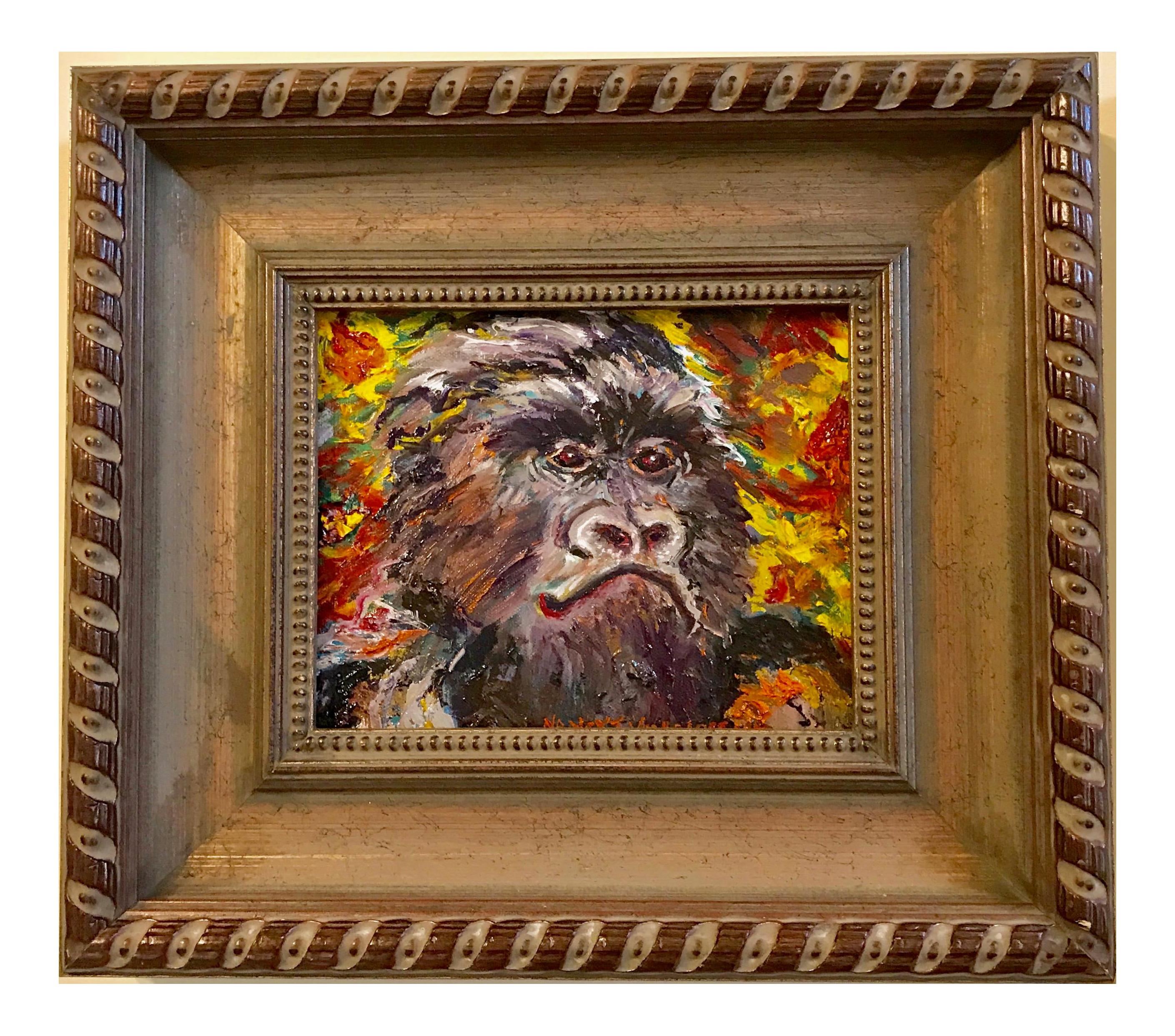 Gorilla Ape Original Oil Painting Signed Artwork In 2020 Original Oil Painting Oil Painting Painting