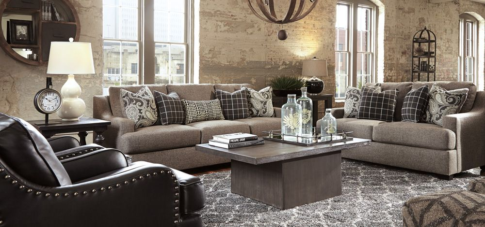 Gypsum Living Room   On Our Showroom Floor Now!  By Ashley Furniture