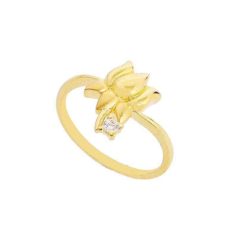 Rings Lakshmi Lotus Symbol Love Gold Ring