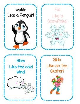 Photo of Winter Themed Gross Motor Movement Cards