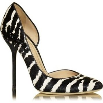 fb1b4618392 Gucci Noah Animal-print Pony Hair - 41.5 Black White Pumps. Get the  must-have pumps of this season! These Gucci Noah Animal-print Pony Hair -  41.5 ...