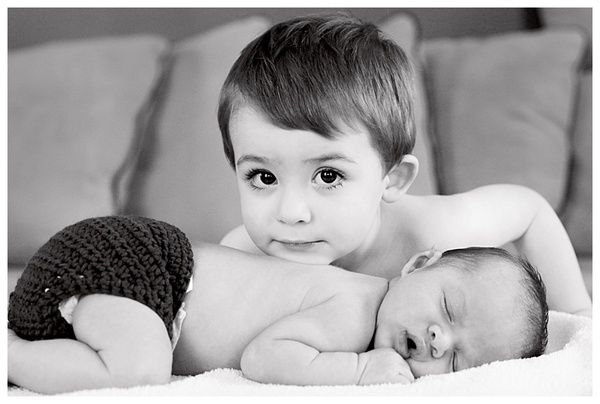 Newborn Pics Sibling Photo