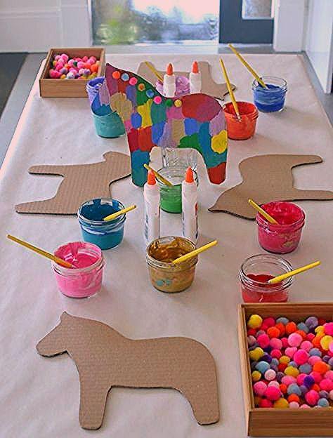 Photo of Dala Horse Party Craft