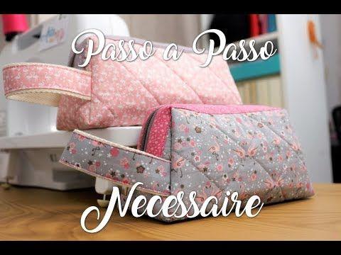 Passo a Passo - Necessaire Trapézio Flamingos | Necessaire Vídeos ...