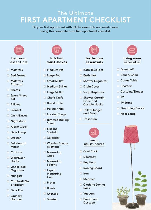 Apartment Decorating Checklist