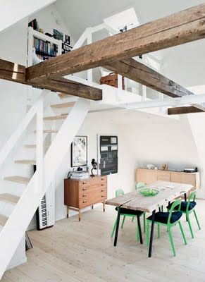 Dachbalken Wohnen Wohnung Innenarchitektur