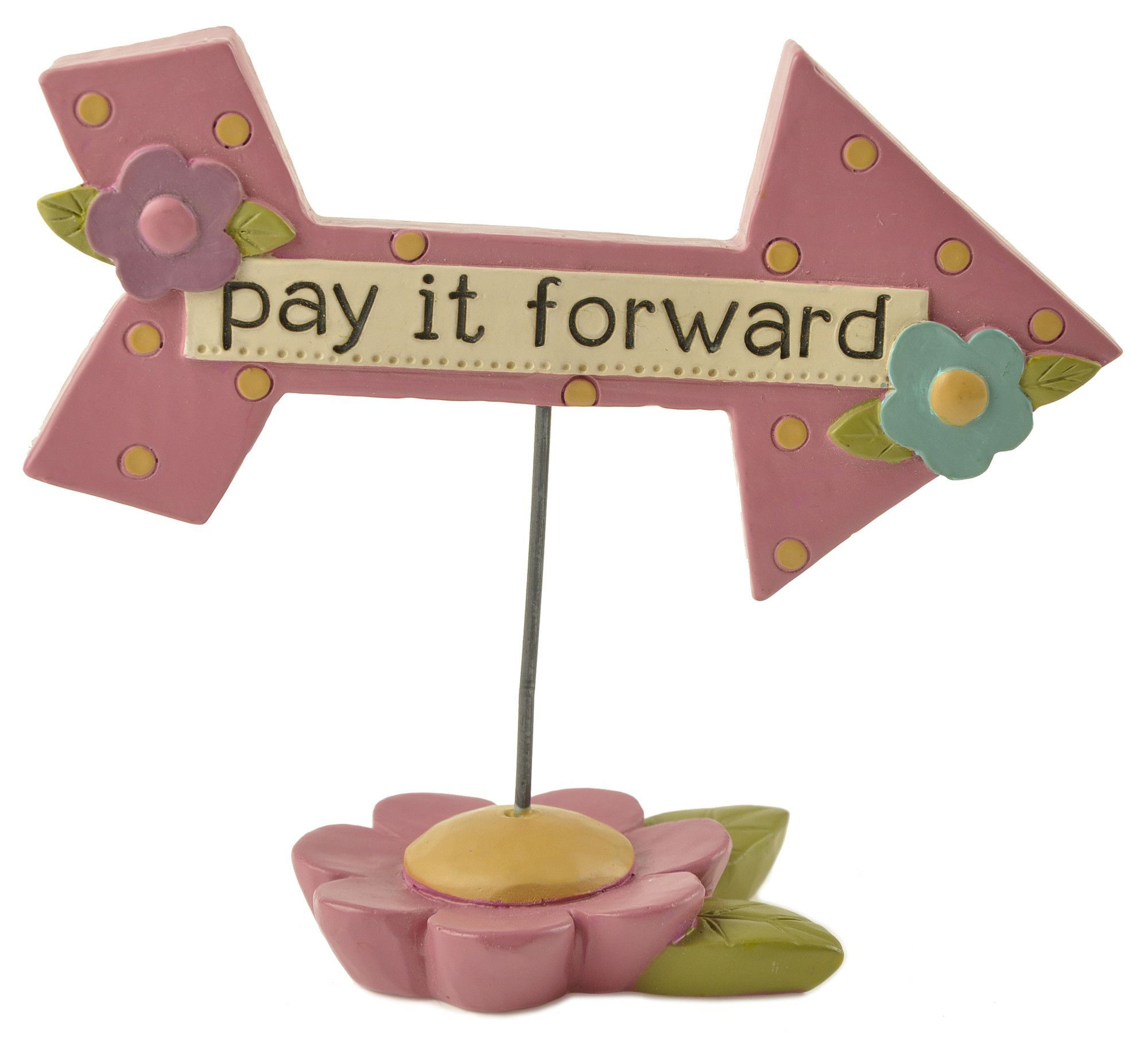 Pay It Forward Arrow on Base Letter Block