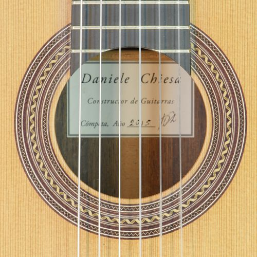 Rosette And Label Of A Classical Guitar Built By Luthier Daniele Chiesa Luthier Guitar Guitar Luthier