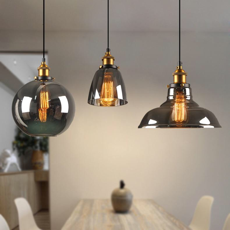 Vintage Pendant Lights Glass Pendant Lamps Loft Industrial Hanging