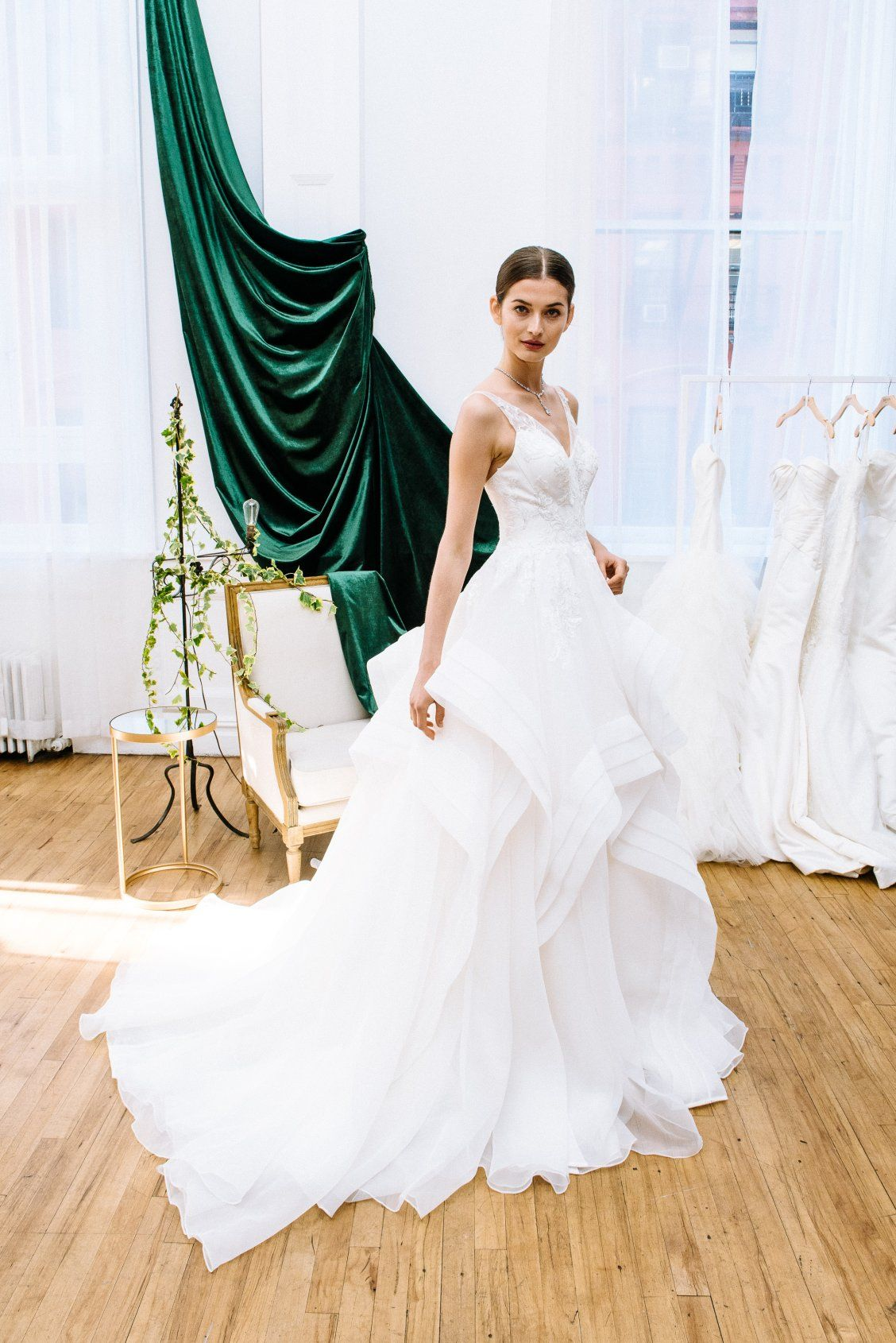 722079a9 A glamorous wedding dress dream, this tank V neck ball gown wedding dress  by Truly Zac Posen available at David's Bridal
