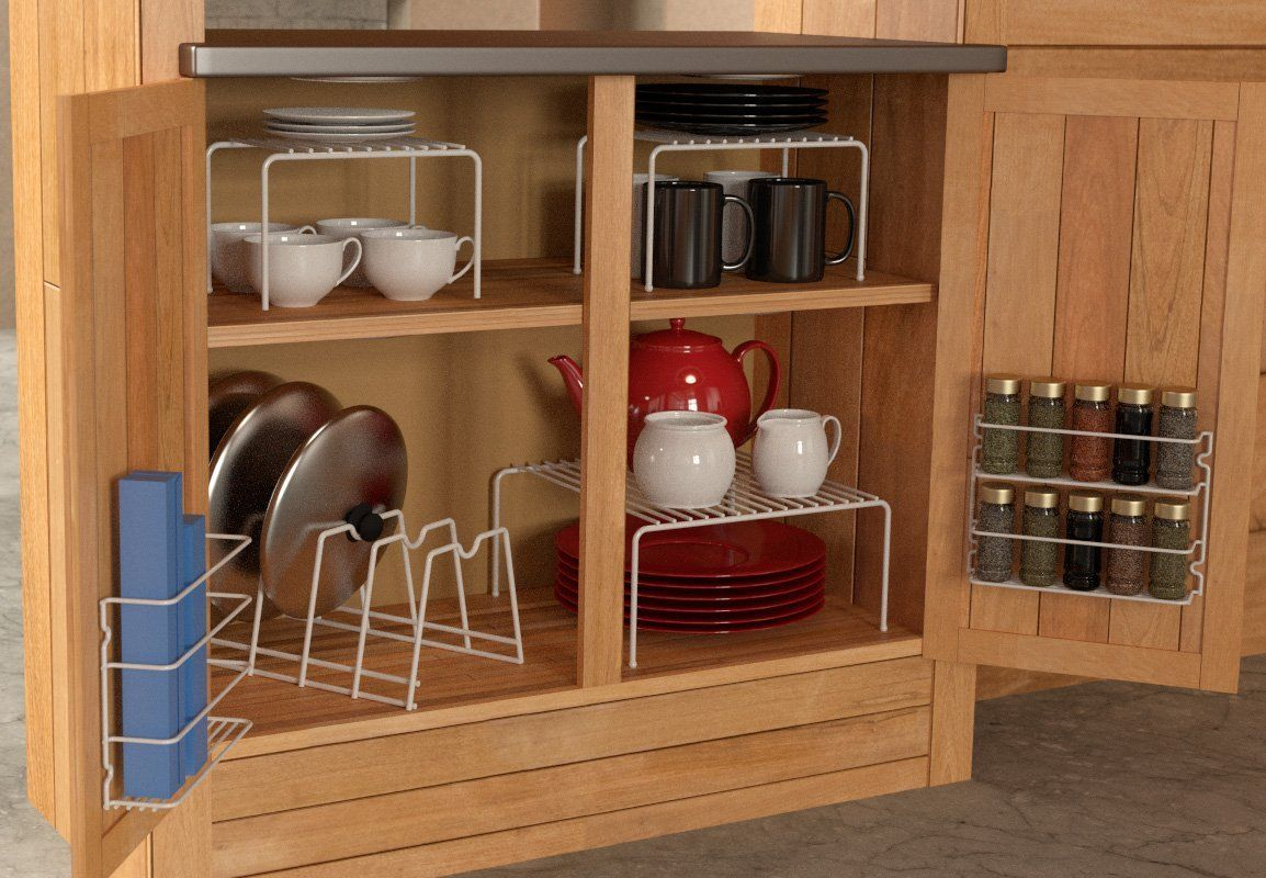 Now Grayline 6 Piece Cabinet Organizer Set White This Includes Only The Most Por Kitchen Organizers