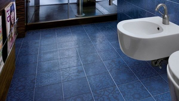 Floor Tiles Ideas Bathroom Floral Dark Blue Steven Marcel Wanders Floor Tile Design Bathroom Flooring Blue Tile Floor