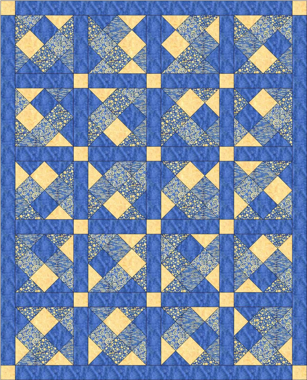 Blue And Yellow Quilt Yellow Quilts Blue Quilts Batik Quilts