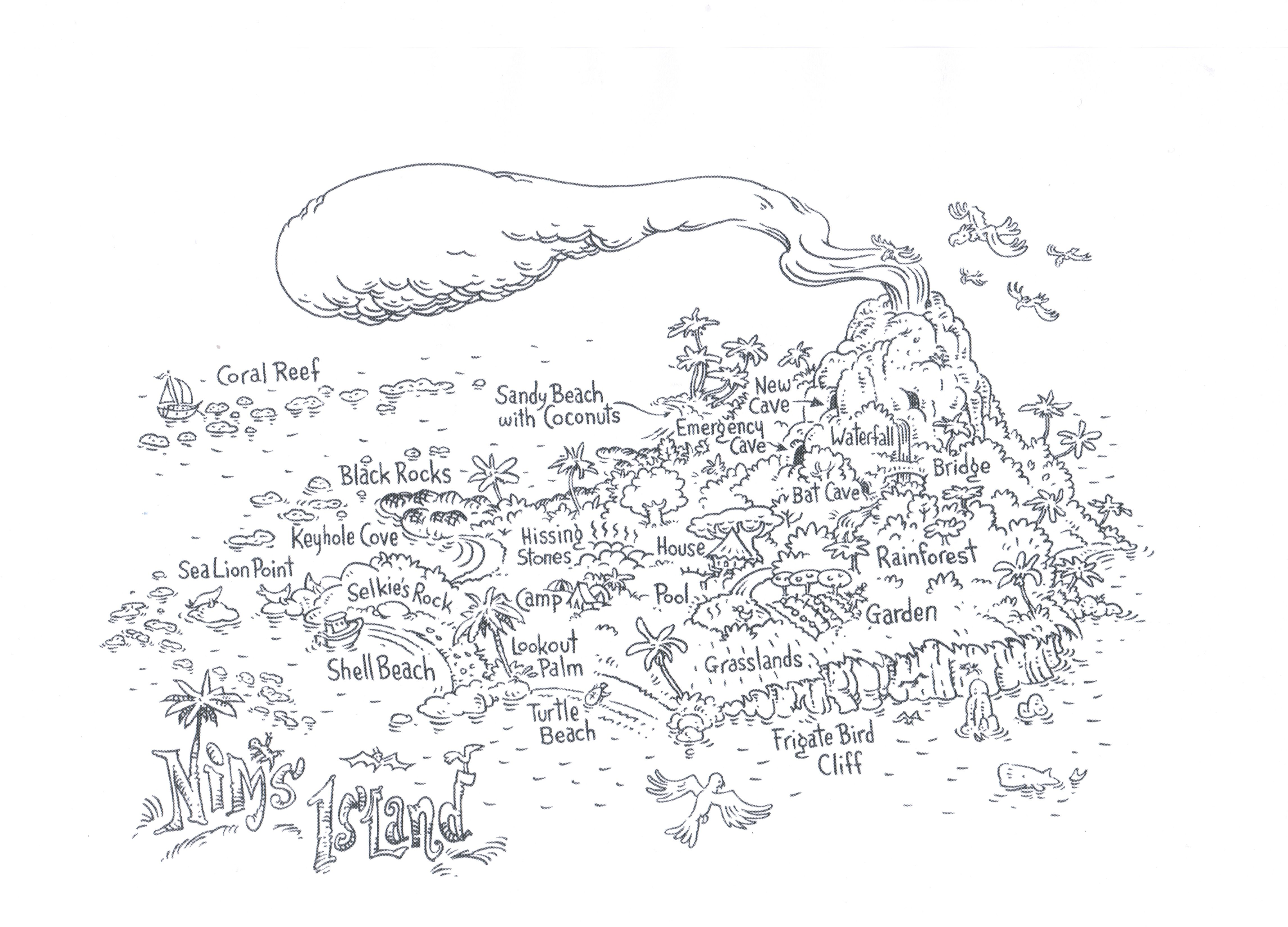 Free Colouring Sheet Of Nim S Island Map By Geoff Kelly