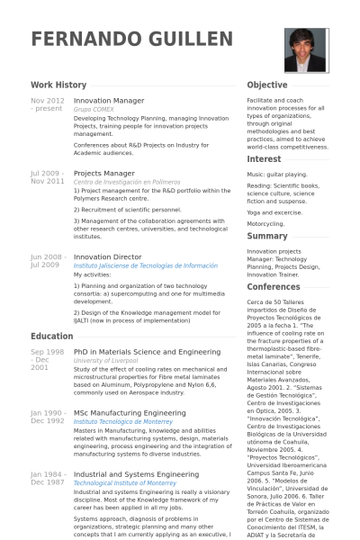 innovation manager Lebenslauf Beispiel | CVs | Pinterest | Cv examples