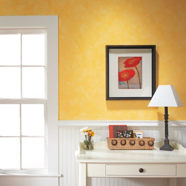 Painting An Accent Wall Blending Colors: Soft & Simple Color Washed Accent Wall: Color Washing Is A