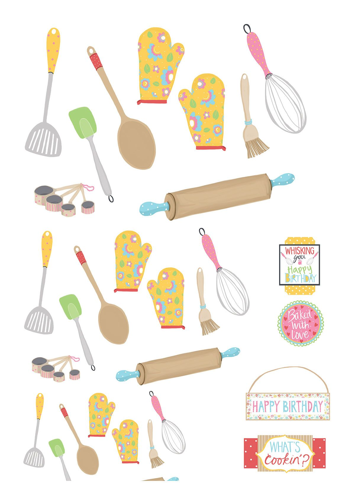 Retro Baking Free Printables From Papercraft Inspirations