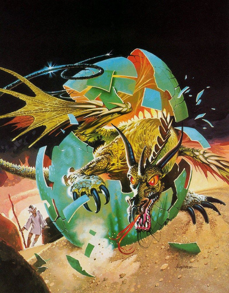Original Art by Paul Alexander for Anne McCaffrey - Get Off the Unicorn 1977 Edition Book Cover